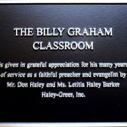 Billy Graham Classroom Marker and Donor Plaque