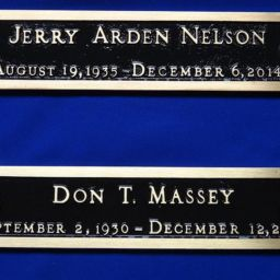 Massey and Nelson Memorial Plaques