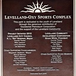 Levelland Dedication and Recognition Plaque