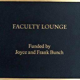 SWB Faculty Lounge Donor Plaque