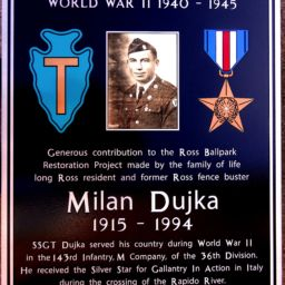 Texas 36th Infantry Division Donor Plaque